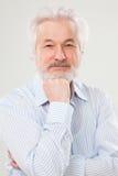 Przystojny starsza osoba mężczyzna z brodą Fotografia Royalty Free