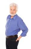 Przystojny starsza osoba mężczyzna z brodą Zdjęcie Royalty Free