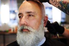 Przystojny starszy mężczyzna z brodą Obraz Stock