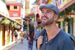 Przystojny turystyczny odwiedza Ameryka Południowa obraz royalty free