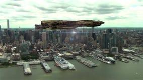 Przyszłość nad Manhattan royalty ilustracja