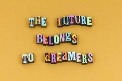 Przyszłość należy wymarzonego pomysł uczy się typografię zdjęcie royalty free
