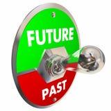 Przyszłość Vs Past Toggle zmiana Wczoraj Dzisiaj 3d Illustr Jutro Fotografia Stock
