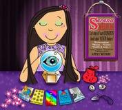 przyszłościowa dziewczyna jej chwyty uczą się target1051_0_ co Zdjęcia Stock