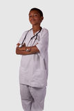przyszłościowa męska pielęgniarka Obraz Stock