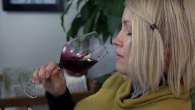 Przyszłościowa mama pije alkohol zdjęcie wideo