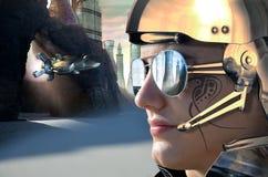 Przyszłościowy żołnierz Fotografia Royalty Free