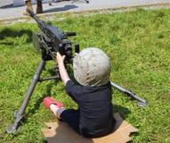 przyszłościowy żołnierz piechoty morskiej Zdjęcie Stock
