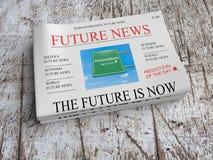 Przyszłościowy Gazetowy Biznesowy pojęcie: Innowacja - przyszłość Jest Teraz ilustracji