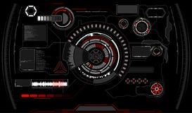 przyszłościowy interfejs Cyfrowych elementy ilustracji