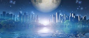 Przyszłościowy miasto ilustracji