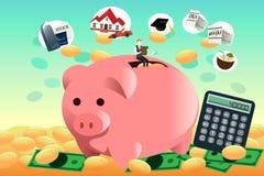 Przyszłościowy pieniężnego planowania pojęcie ilustracja wektor