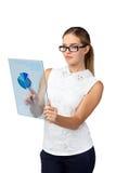 Przyszłościowy technologia dotyka guzika interfejs Obraz Royalty Free