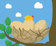 Przytulona narodziny mieszkania ilustracja Ilustracja Wektor