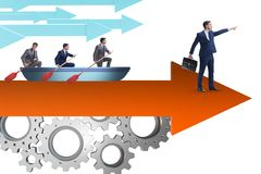 Przywódctwo pojęcie z różnorodnymi ludzie biznesu obraz stock