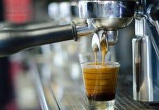 Przywódca grupy kawy maszyna Fotografia Royalty Free