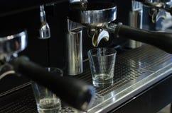 Przywódca grupy kawy maszyna Zdjęcia Royalty Free