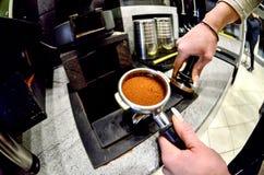 Przywódca grupy kawy maszyna Obrazy Royalty Free