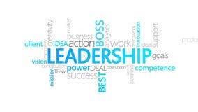 Przywódctwo, Animowana typografia ilustracja wektor