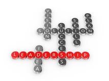 Przywódctwo crossword Zdjęcia Royalty Free