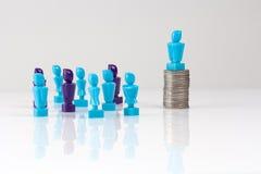 Przywódctwo i korporacyjnej struktury pojęcie Fotografia Royalty Free