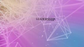 Przywódctwo i pracy zespołowej plexus ilustracja wektor