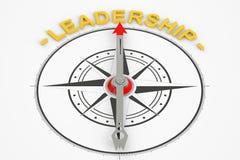 Przywódctwo kompasu pojęcie Fotografia Stock