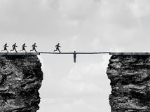 Przywódctwo most ilustracja wektor