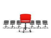 Przywódctwo pojęcie - krzesła ilustracja wektor