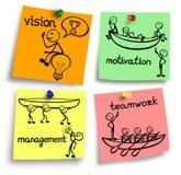 Przywódctwo pojęcie na kolorowe notatki Zdjęcia Stock
