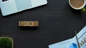 Przywódctwo słowo robić sześciany, indywidualne ilości sprawnie być szefem osoba zdjęcie wideo