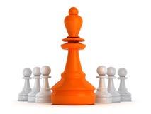 Przywódctwo symbol - szachowe postacie ilustracji