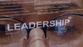 Przywódctwo tekst na żeńskim deweloper oprogramowania zbiory wideo