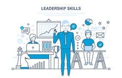 Przywódctwo umiejętności, przywódctwo rozwój, zarządzanie, kariera przyrost, ulepszenia ogłoszenia towarzyskiego ilości royalty ilustracja