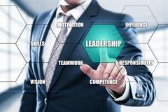 Przywódctwo zarządzania przedsiębiorstwem pracy zespołowej motywaci umiejętności pojęcie Obraz Royalty Free