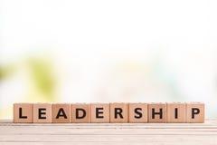 Przywódctwo znak na biurku Zdjęcie Stock