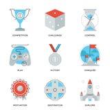 Przywódctwo elementów kreskowe ikony ustawiać Fotografia Stock