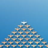 Przywódctwo kaczki wzór Fotografia Royalty Free