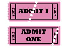 przyznaje bilety jeden Obraz Stock