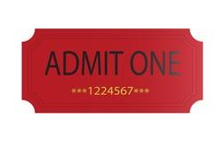 przyznaje czerwień jeden bilet Zdjęcia Royalty Free