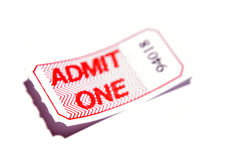 przyznaje jeden bilet obraz stock