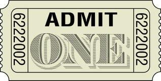 przyznaje jeden bilet Obrazy Stock