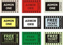 przyznaje kino bilet jeden Zdjęcia Royalty Free