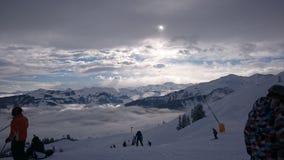 Przyzwoicie w mgłę Oberau Zdjęcia Stock