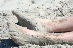 Pés de Sandy Fotos de Stock Royalty Free