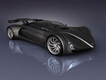 PS-final render. Studio render sport concept car stock illustration