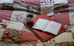 PS I love you. Love note on the bed Royalty Free Stock Image