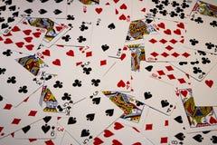 Pás reais do flash do casino dos cartões de jogo Imagens de Stock