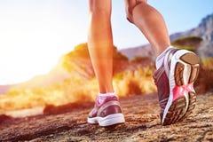 Arraste mulher running Foto de Stock Royalty Free