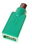 PS2 aan adapter USB Royalty-vrije Stock Foto's